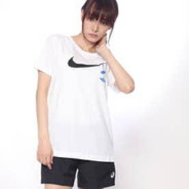 ナイキ NIKE レディース 半袖Tシャツ スウッシュ シューズ EMBRD Tシャツ 923335100 (ホワイト)