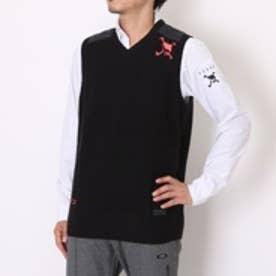 【アウトレット】オークリー OAKLEY ゴルフベスト Skull Uneven Sweater Vest 461381JP (ブラック)