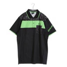 【アウトレット】オークリー OAKLEY ゴルフシャツ Bark Leaf Geo Block Polo 433629JP ブラック (Jet Black)
