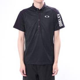オークリー OAKLEY メンズ ゴルフ 半袖 シャツ Bark Shadow Border Shirts 434188JP