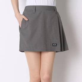 オークリー OAKLEY ゴルフショートパンツ Barket Stripe WR Pleats Skirt 591426JP ブラック (Jet Black)