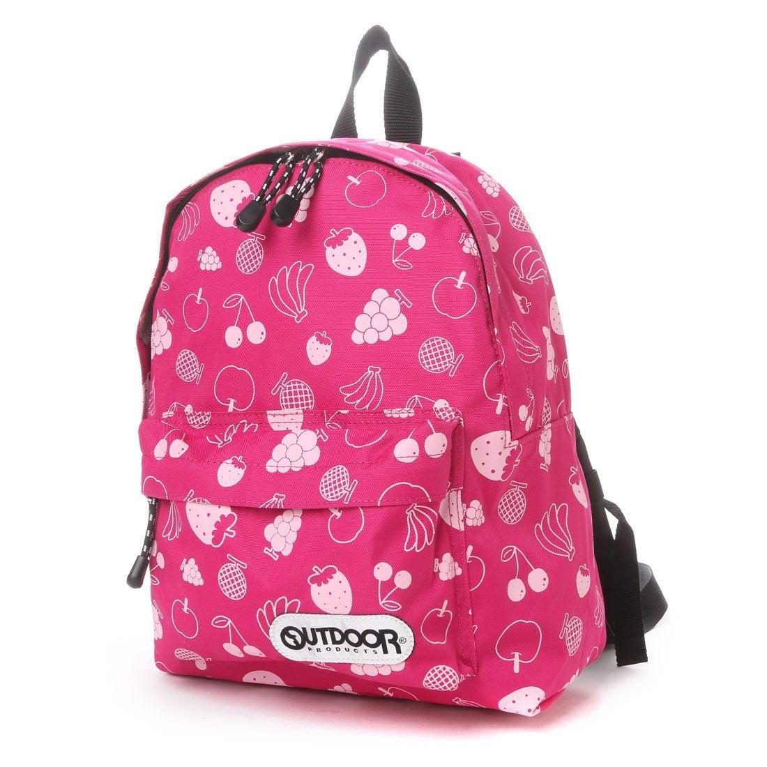 アウトドアプロダクツ OUTDOOR PRODUCTS ジュニアバッグ キッズチアフルデイパック 12439289 ピンク (パッションピンク)