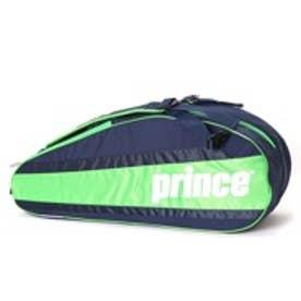 プリンス Prince テニスラケットケース AT672 ラケットバッグ6本入 AT672 ネイビー (ネイビー×グリーン)