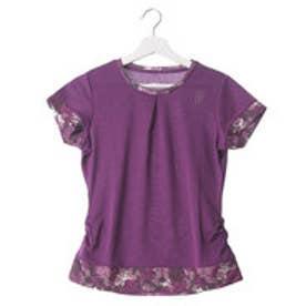 プリンス Prince レディース テニス 半袖Tシャツ ゲームシャツ WL6084  (パープル)