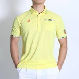 【アウトレット】パラディーゾ PARADISO ゴルフシャツ 16SS PDメンズハンシャツ DSM35A (ペールイエロー)