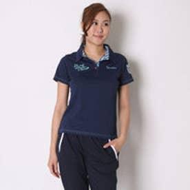 パラディーゾ PARADISO ゴルフシャツ 16SS PDレディスハンシャツ DSL51A (ライトネイビー)