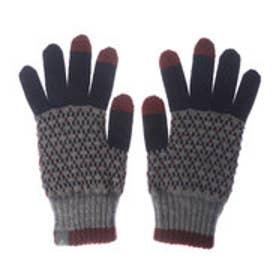 フェニックス PHENIX レディース トレッキング グローブ Argyle Knit Gloves PH668GL64 (NAVY)