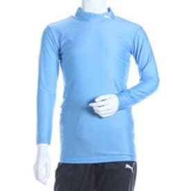 プーマ PUMA ジュニアサッカー長袖インナーシャツ COMPRESSION JR モックネック LS シャツ 920481 ブルー  (SAXE-WHITE)
