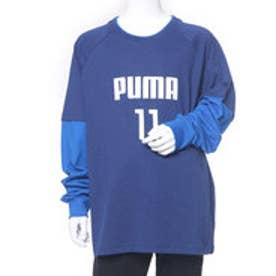プーマ PUMA ジュニア 長袖Tシャツ レイヤード LS Tシャツ 594289 (ブルー)