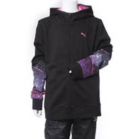 プーマ PUMA ジュニア スウェットフルジップ フーデッドスウェットジャケット 594833 (ブラック)