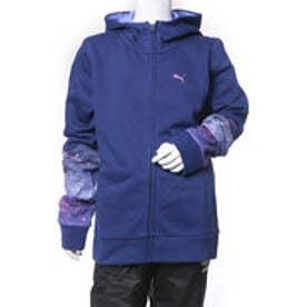 プーマ PUMA ジュニア スウェットフルジップ フーデッドスウェットジャケット 594833 (ブルー)
