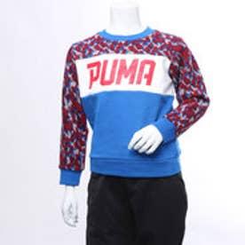 プーマ PUMA ジュニア スウェットトレーナー AOP クルースウェット 594677 (ブルー)