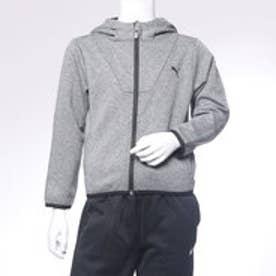 プーマ PUMA ジュニア スウェットフルジップ TECH フーデッドジャケット 594749 (グレー)