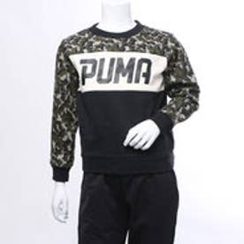 プーマ PUMA ジュニア スウェットトレーナー AOP クルースウェット 594677 (ブラック)
