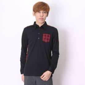 【アウトレット】プーマ PUMA ゴルフシャツ LS ジャガードポロ 923172     ブラック (ブラック)