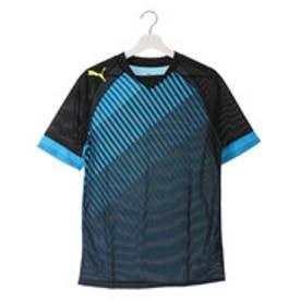 プーマ PUMA サッカープラクティスシャツ IT EVOTRG SSトレーニングTEE 654825  (BLACK-ATOMIC BLUE)