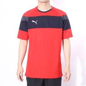 プーマ PUMA サッカープラクティスシャツ TT SPIRIT 2 SSトレーニングTEE 654817 レッド  (PUMA RED)