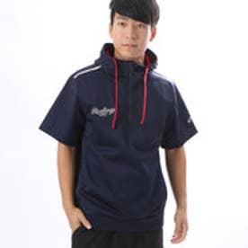 ローリングス Rawlings ユニセックス 野球 ウインドブレーカー ボンディングストレッチ半袖パーカーシャツ J00596597
