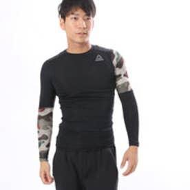 リーボック REEBOK メンズ 長袖Tシャツ ワンシリーズ ACTIVCHILL Comp カモグラフィック ロングスリーブTシャツ BQ3494