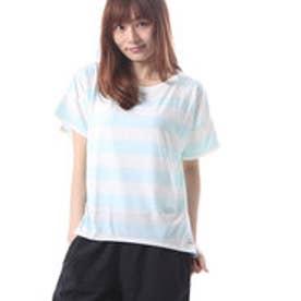 リーボック REEBOK レディース フィットネス 半袖Tシャツ ヨガ ボーダーTシャツ BC5166