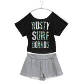 【アウトレット】ラスティー Rusty 4点セットビキニ 935666 ブラック【返品不可商品】