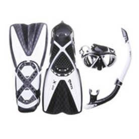 スポーツデポ SPORTS DEPO ユニセックス マリン シュノーケルセット X-ONE MAREA SET BWH (エックスワン マレア セット ブラック/ホワイト) X-ONEMAREA