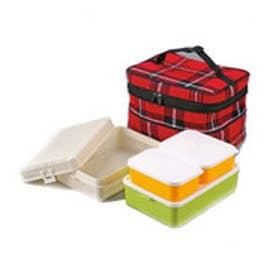 スポーツデポ SPORTS DEPO キャンプ 食器 ファミリーランチボックス(レッド) UE-0546