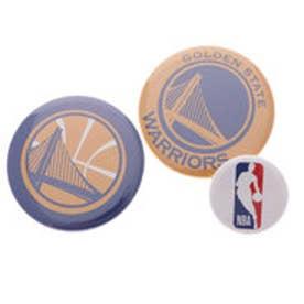 スポーツデポ SPORTS DEPO バスケットボール ウェア/小物 缶バッチ(3個セット) WARRIORS NBA32001