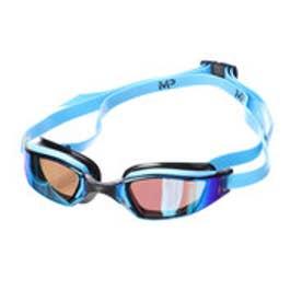スポーツデポ SPORTS DEPO 水泳 ゴーグル/小物 エクシード チタニウムブルーミラーレンズ ブルー/ブラック 139080