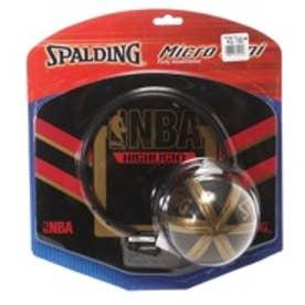スポルディング SPALDING バスケットミニゴールセット SP MICRO-M NBA 77-635Z ブラック×レッド