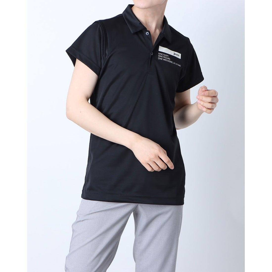 スリクソン SRIXON メンズ ゴルフ 長袖シャツ ハンソデシャツ RGMRJA18 (ブラック)