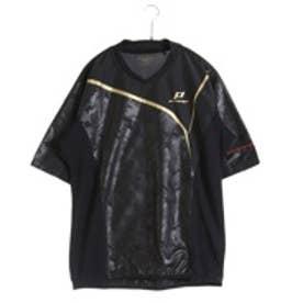 エスエスケイ SSK 野球半袖ウィンドシャツ PROEDGE H/Sピステ BWP16011H (ブラック×ブラック×ゴールド)