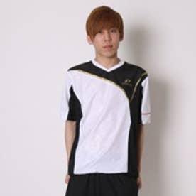 エスエスケイ SSK 野球半袖ウィンドシャツ PROEDGE H/Sピステ BWP16011H (ホワイト×ブラック×ゴールド)