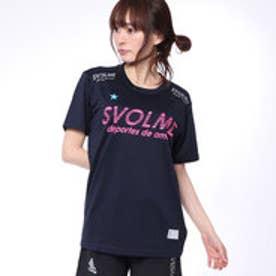 スボルメ SVOLME 陸上 ランニング 半袖 Tシャツ シンプルランシャツ 181-70600 (ネイビー)