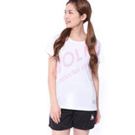 スボルメ SVOLME レディース 陸上 ランニング 半袖 Tシャツ シャーロゴランシャツG 181-71200 (ホワイト)
