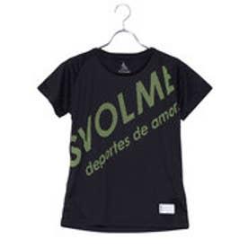 スボルメ SVOLME レディース 陸上 ランニング 半袖 Tシャツ シャーロゴランシャツG 181-71200 (ブラック)