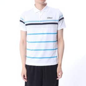 タイトリスト Titleist メンズ ゴルフ 半袖 シャツ 先染めボーダーストレッチスムースシャツ 9683086858