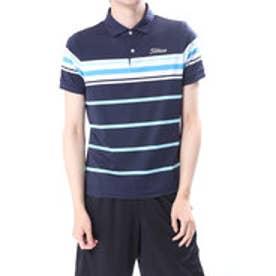 タイトリスト Titleist メンズ ゴルフ 半袖 シャツ 先染めボーダーストレッチスムースシャツ 9683086803