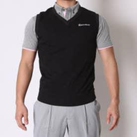テーラーメイド TaylorMade ゴルフベスト S/S スウエットベストレイヤード B.D.シャツ CCK09 (ブラック/ブラック)