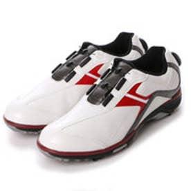 ティゴラ TIGORA ダイヤル式ゴルフシューズ  TR-0S1015WR 381 (ホワイト×レッド)