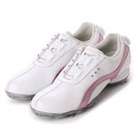ティゴラ TIGORA レディース ゴルフ ダイヤル式スパイクシューズ 0466136026 487 (ホワイト)