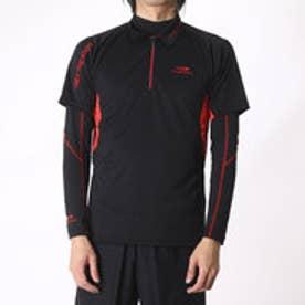 ティゴラ TIGORA メンズ ゴルフ セットシャツ TR-1L1566RYZ (ブラック)