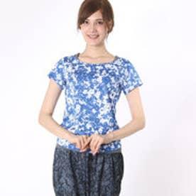 ティゴラ TIGORA レディース フィットネス 半袖Tシャツ Tシャツ TR-3F2546TS (ブルー)