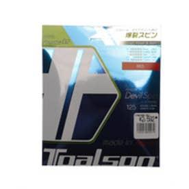 トアルソン TOALSON ユニセックス 硬式テニス ストリング レンコン・デビルスピン125α レッド 7352510R
