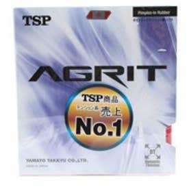 ティーエスピー TSP 卓球ラバー アグリット 裏ソフト 厚さ:中 20016 レッド