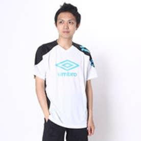 アンブロ UMBRO サッカープラクティスシャツ COMBO プラクティス シャツ UBS7631  (ホワイト×ブラック×ターコ)