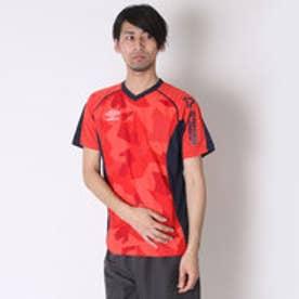 アンブロ UMBRO サッカープラクティスシャツ COMBO プラクティス シャツ UBS7628 ピンク  (オーロラピンク×ネイビー)