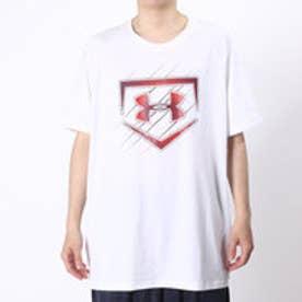 アンダーアーマー UNDER ARMOUR 野球Tシャツ UAテックHG SS<HOME PLATE> #MBB2301 (ホワイト)