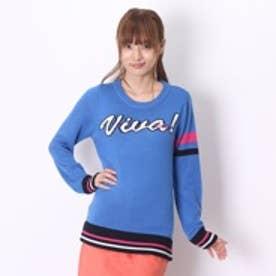 ビバハート VIVA HEART ゴルフセーター スクエア美綺麗ネックセーター長袖 018-12910 ブルー (ブルー)