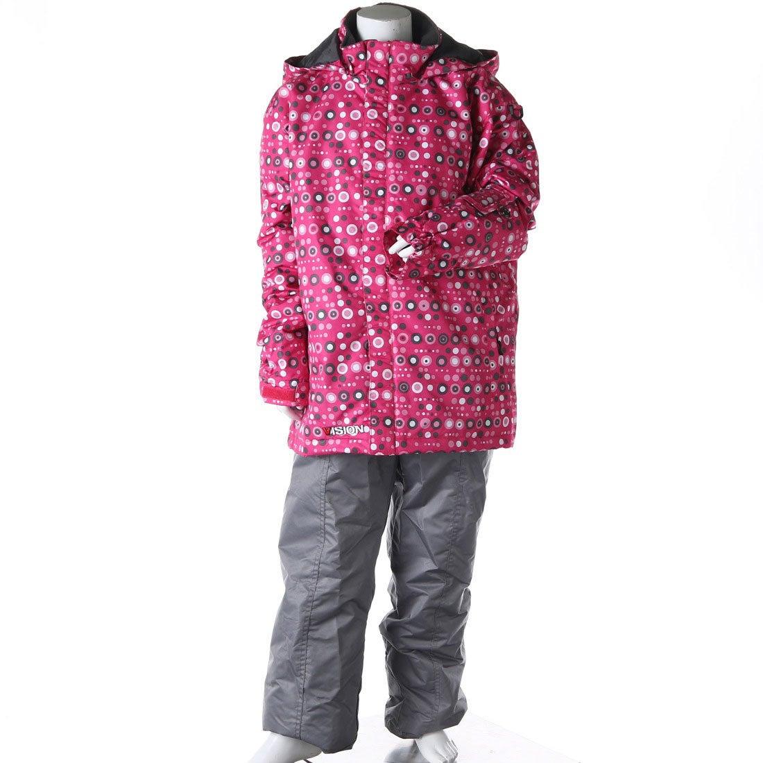 ロコンド 靴とファッションの通販サイトビジョンVISIONジュニアスキーウェア上下セットガールズスキーウェアVSG-4221